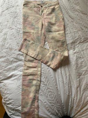 Vero Moda Pantalon fuselé beige-vieux rose