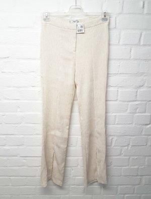 Mango Pantalon pattes d'éléphant crème-beige clair viscose