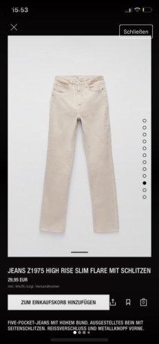 Zara Jeans larghi crema-beige chiaro