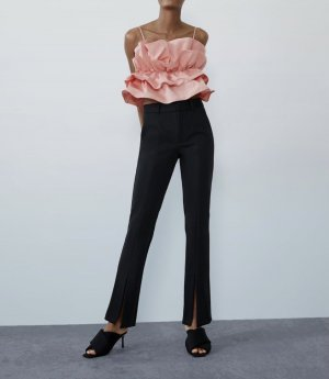 Zara Hoge taille broek zwart