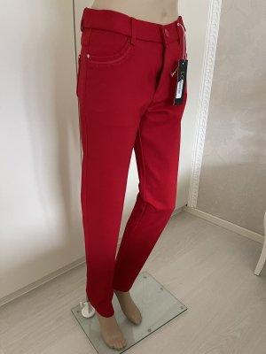 Louna Hoge taille broek rood
