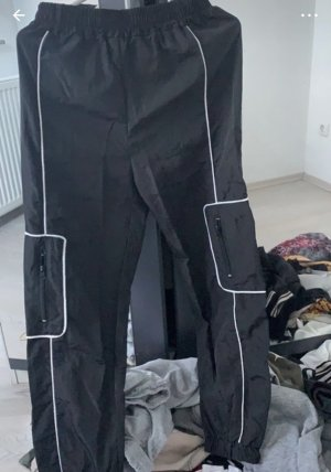 SheIn Pantalon cargo noir-blanc