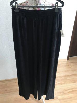Hose mit weitem Bein, schwarz
