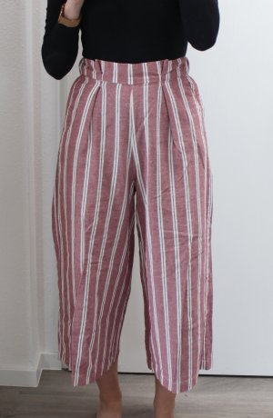Pull & Bear Jersey Pants white-bright red