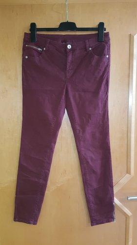 Yessica Drainpipe Trousers bordeaux-purple