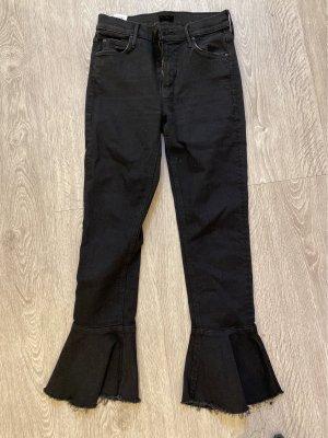 Mother Pantalone a vita alta nero Tessuto misto