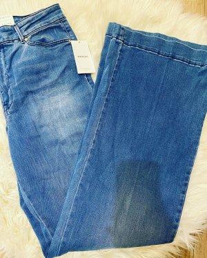 Mango Workowate jeansy stalowy niebieski
