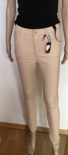 Pantalone cinque tasche beige