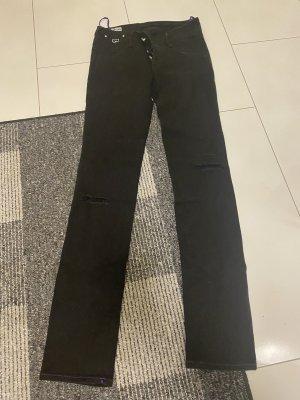 Gas Jeans cigarette noir