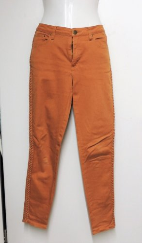 Hose orange an der Seite geflochten Größe 36