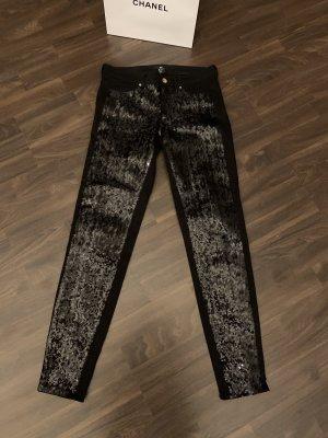 H&M Pantalon cinq poches noir