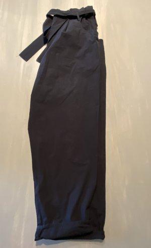Hose Paperbag-Bund Oversize Gürtel weites Bein COS Größe 42 schwarz