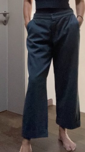 Labo.Art Woolen Trousers petrol cotton