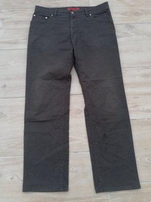 Pierre Cardin Pantalone jersey nero-antracite