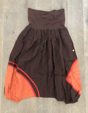 Pantalone a 3/4 marrone scuro-ruggine Cotone