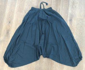 Ohne Pantalon large bleu pétrole-bleu cadet coton