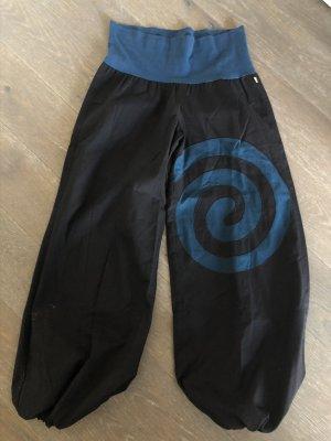 Hose Pumphose Baumwolle Spirale schwarz petrol S/M