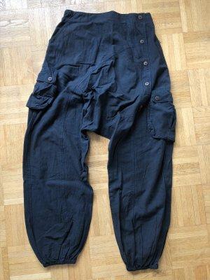 unbranded Pantalone bloomers petrolio Cotone