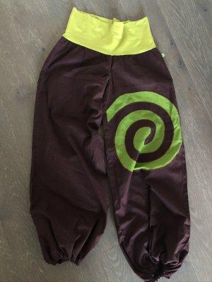 unbranded Pantalone bloomers marrone scuro-verde prato Cotone