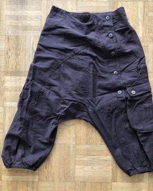 Pantalon 3/4 brun foncé coton