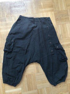 Ohne 3/4 Length Trousers dark green-khaki cotton