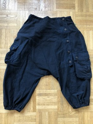 Ohne 3/4 Length Trousers petrol-dark green cotton