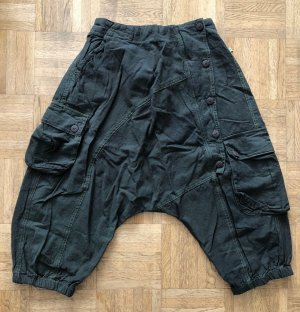 Ohne 3/4 Length Trousers khaki-grass green cotton