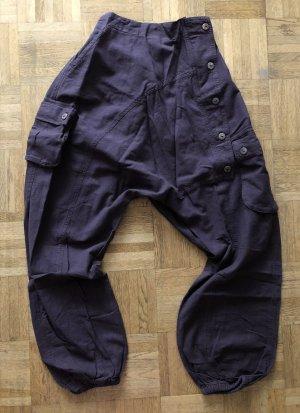 Ohne Pantalon large brun foncé coton