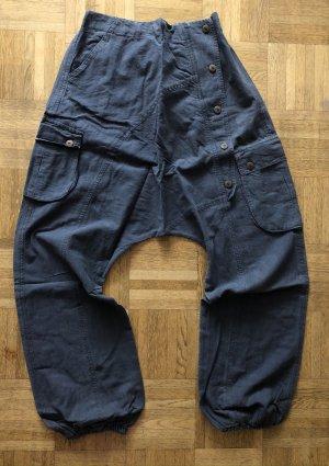 Hose Pumphose grau Baumwolle stonewashed Gr. S/M (36/38) Damen/Herren