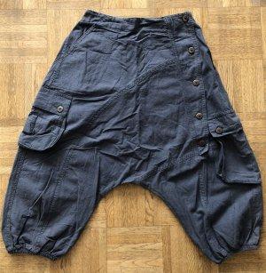 Pantalon 3/4 gris coton