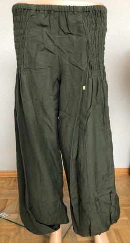 Hose Pumphose khaki braun Baumwolle S//M 36/38 gerades Bein