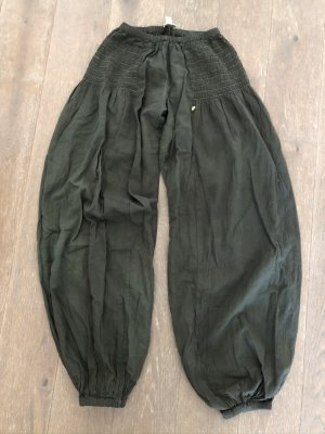 Pantalone bloomers cachi-verde prato Cotone