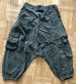 Pantalone a 3/4 cachi-verde scuro Cotone