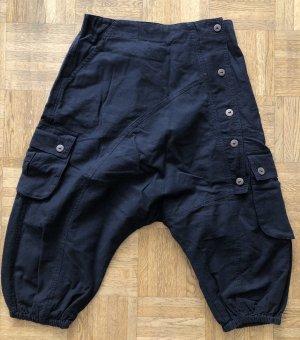 Pantalone a 3/4 nero Cotone
