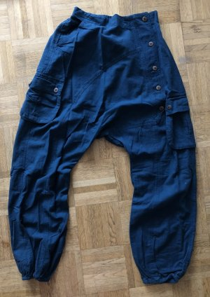 unbranded Pantalone bloomers petrolio-blu cadetto Cotone