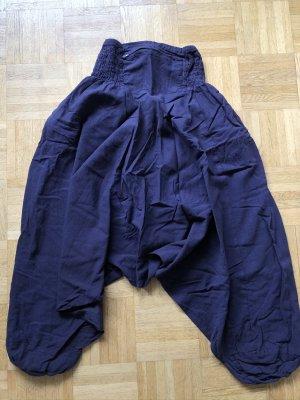 unbranded Pantalone bloomers viola scuro-nero Cotone