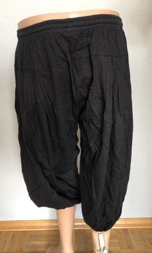 Hose Pumphose Wellness Yoga Baumwolle schwarz Einheitsgröße S-XL 36-40