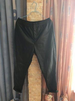 Reserved Leren broek zwart