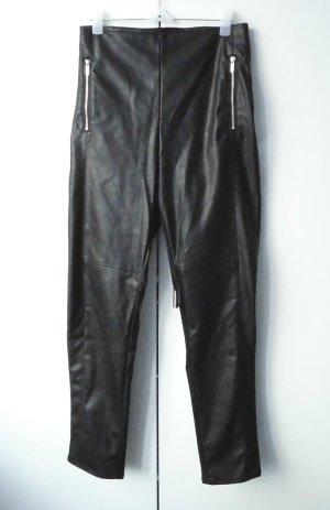 H&M Divided Pantalón de cuero negro