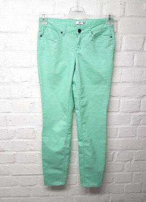 AJC Pantalon cigarette vert menthe tissu mixte