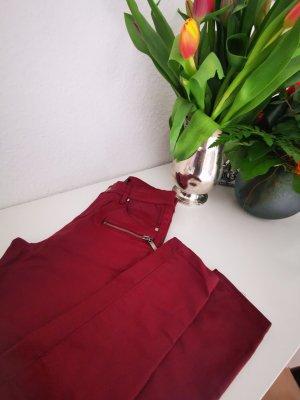 Amisu Drainpipe Trousers bordeaux