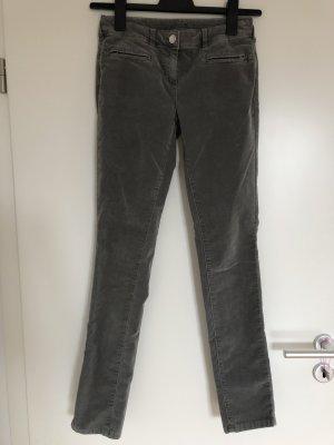 Tom Tailor Pantalone di velluto a coste grigio-verde-grigio scuro Cotone