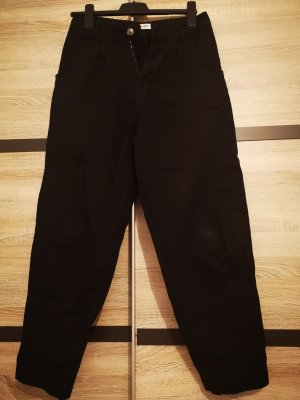Pull & Bear Peg Top Trousers black