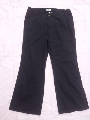 Hose schwarz Baumwolle Gr. 44