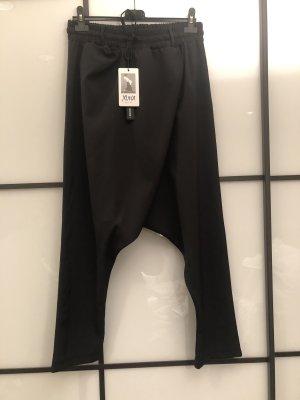 Made in Italy Pantalón abombado negro