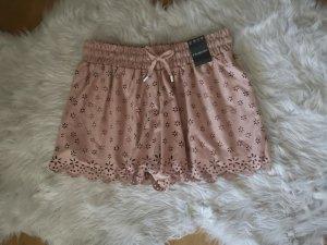 Hose Shorts rosa nude puder Spitze Blumen S blogger hipster boho