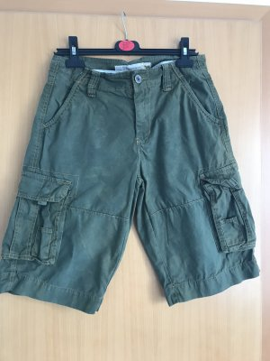Poolman Denim Shorts green grey-khaki