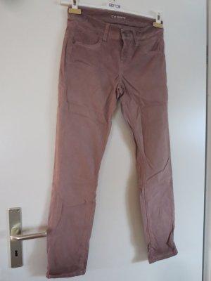 Cambio Pantalone a vita bassa rosa pallido-beige chiaro Cotone