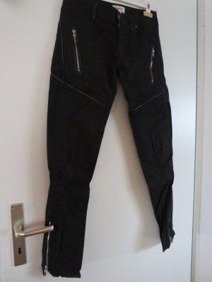 Diesel Pantalón de camuflaje negro Algodón