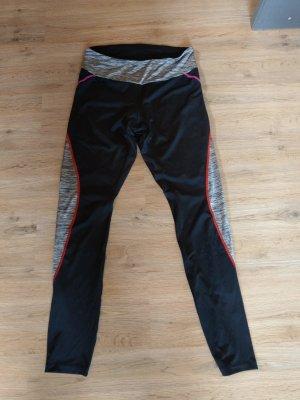 active Sportbroek zwart-zilver